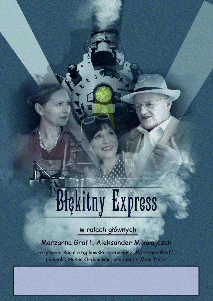 plakat Blekitny Express z polem tekstowym 100x70cm